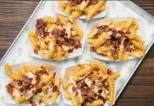 Shake Shack fries with bacon and cheese