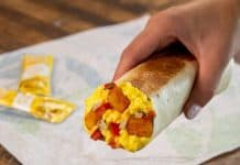Taco Bell Grilled Breakfast Burrito