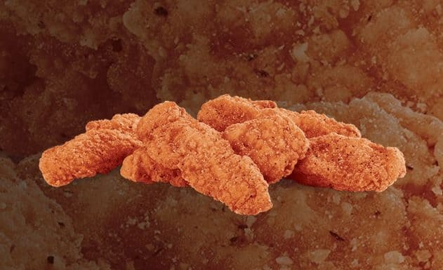 Jack In The Box Spicy Chicken Strips piled up