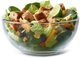 McDonald's Premium Southwest Salad in a bowl