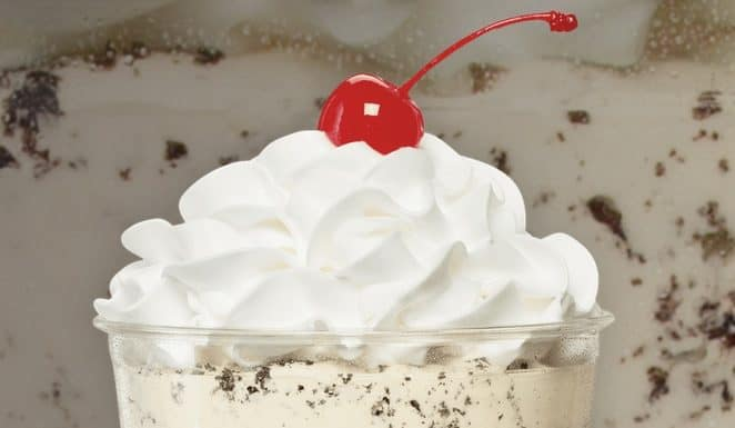 Jack In The Box Oreo Cookie Shake