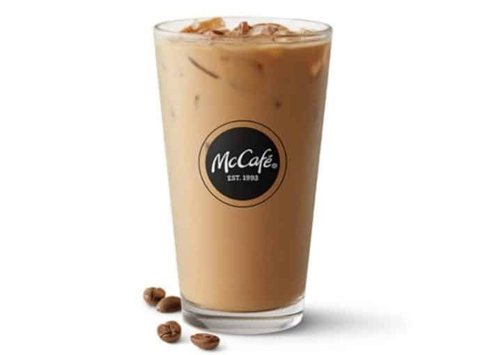 A glass of McDonald's Iced Coffee