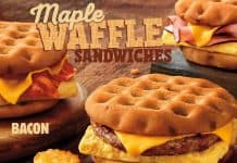 Burger King Maple Waffle Sandwiches (Sausage, Ham, and Bacon)