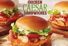 Burger King Chicken Caesar Sandwiches