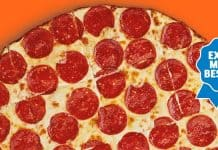 Little Caesars Thin Crust Pepperoni Pizza
