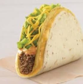 Taco Bell Chipotle Cheddar Double Stacked Taco