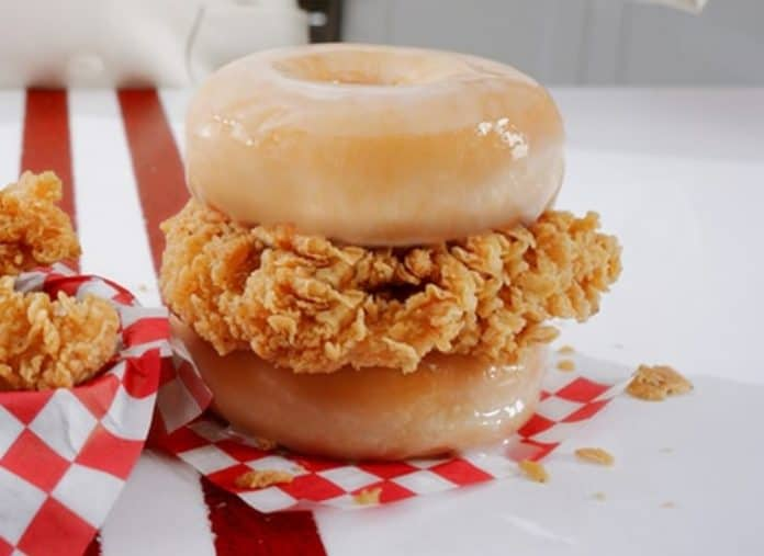 KFC Chicken & Donut Sandwich